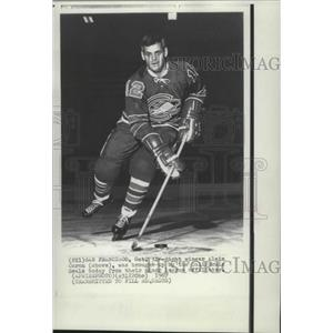 1967 Press Photo Hockey player Alain Caron brought up by the California Seals