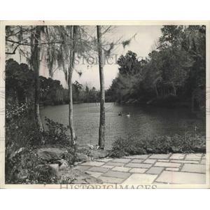1953 Press Photo Bellingrath Gardens in Mobile, Alabama - abnz00349