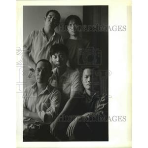 1989 Press Photo Refugees, New Orleans-Five Chinese seaman seek political asylum