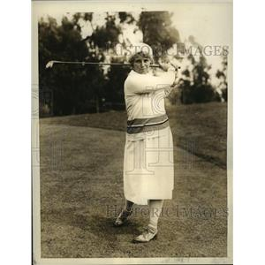 1931 Press Photo Mrs. Brent Potter, Stanford U Co-Ed Golf Instructor - sbs05019