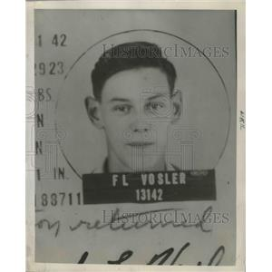 1944 Press Photo Radio Operator Forrest L Vosler Badly Hit by Shell Fragments