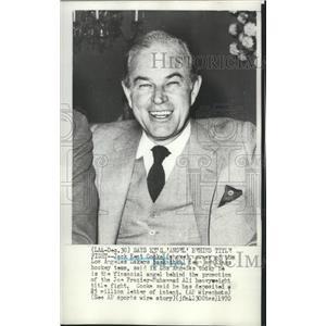 1970 Press Photo Jack Kent Cooke, Los Angeles Lakers basketball team owner