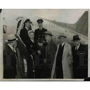1938 Press Photo First Philadelphia-Washington Air Mail Flight - nep04364