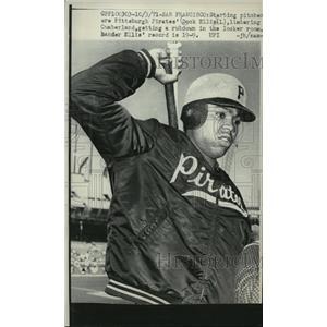 1971 Press Photo Pittsburgh Pirates' Starting Pitcher, Dock Ellis - mja58682