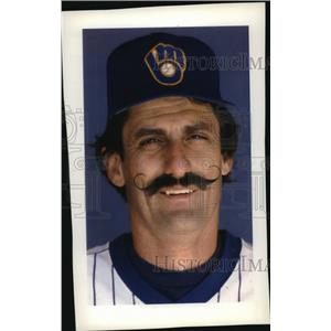 1992 Press Photo Hall of Fame Baseball Player, Brewers Rollie Fingers