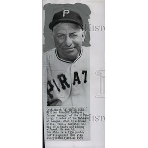 1957 Press Photo William Andy (Billy) Meyer, Major League Manager of the Year