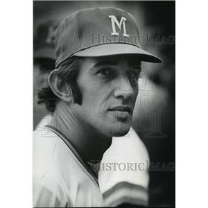 1972 Press Photo Baseball-Milwaukee Brewers Player Ray Newman - mja63328