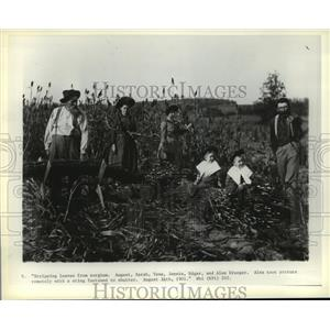 1901 Press Photo August, Sarah, Tena, Jennie, and Alex Krueger of Wisconsin
