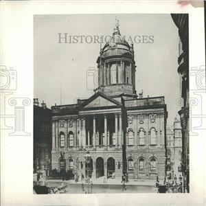 1913 Press Photo Mayor Gaynor Body Town Hall Liverpool - RRY30067