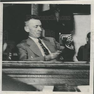 1940 Press Photo Ray Humphrey Chief investigator Herber