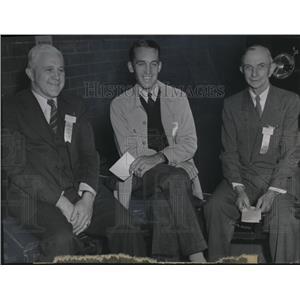 1946 Press Photo William Teutsch, HC Mantis & EV Ellington at Flying Farmers