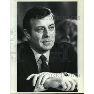 1981 Press Photo Drew Lewis, Transportation Secretary, at Confirmation Hearing