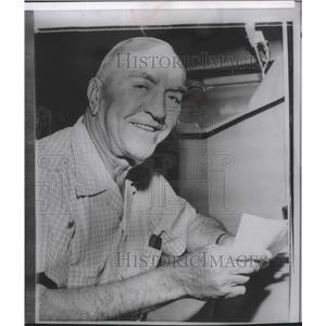 1960 Press Photo Capt Eddie Rickenbacker World War I Ace Celebrates 70th
