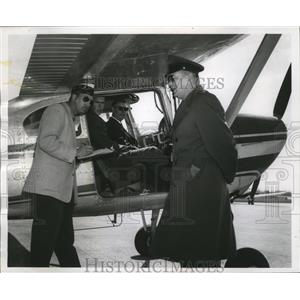 1958 Press Photo The Wisconsin civil air corps airlifted air force ROTC cadets