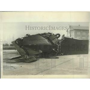 1929 Press Photo Wreckage of Gorst Air Transport 8-Passenger Plane Went Down