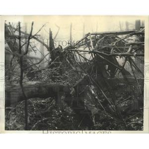 1937 Press Photo Twisted Wreckage of U.S. Army Bomber Crashed Near Front Royal