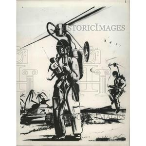 1951 Press Photo One Man Midget Helicopter referred to by President Truman