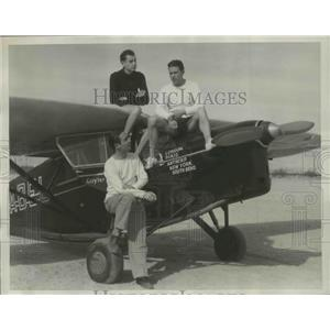 1934 Press Photo Three American Aviators Make 8,000-Mile Curiosity Flight