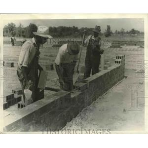 1940 Press Photo Construction of the Air Corps Pursuit School in Selma, Alabama