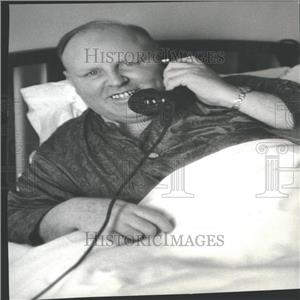1938 Press Photo Teamster Dave Beck In The Hospital