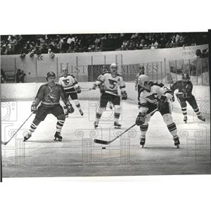 1978 Press Photo The Chiefs hockey team in action - sps05898