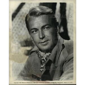 1945 Press Photo Alan Ladd, Actor - mja65713